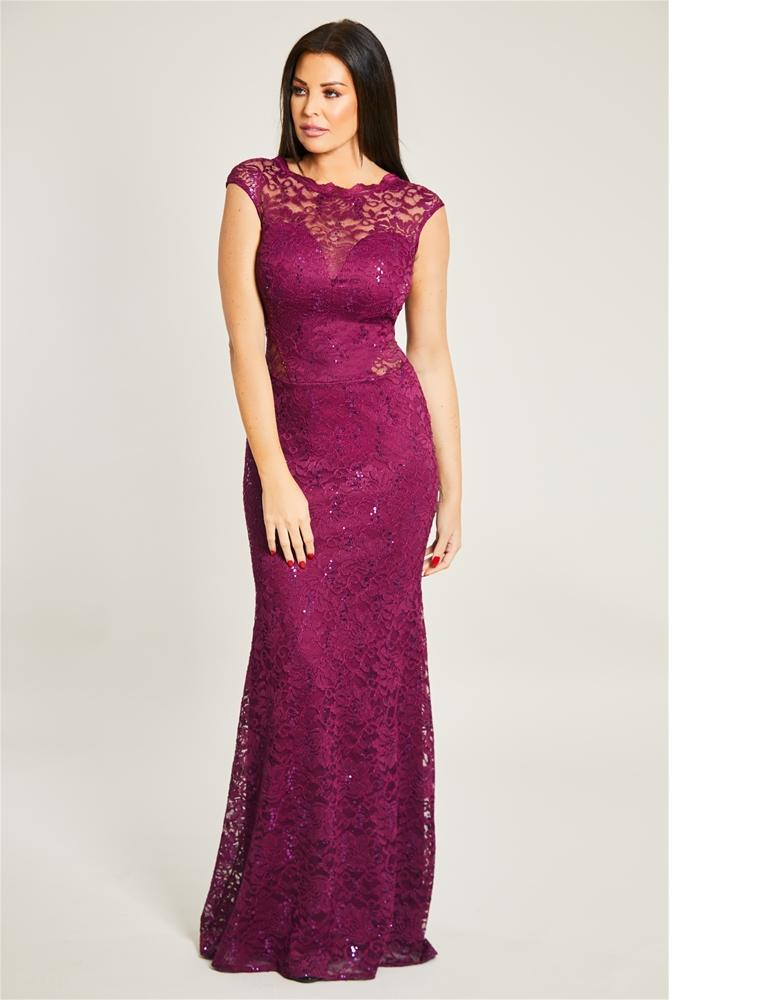 Eliora Sequin Lace Maxi Dress