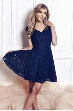 Martina Lace Bardot Skater Dress