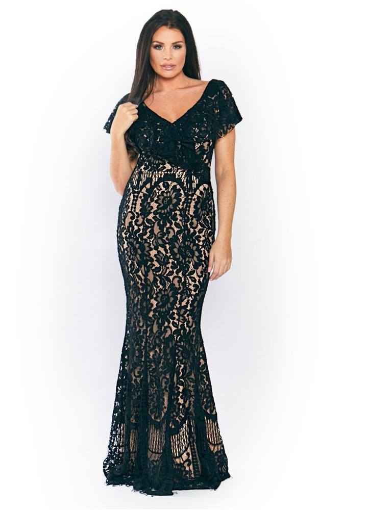 Symona lace maxi dress