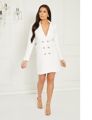 Portia tailored tuxedo dress