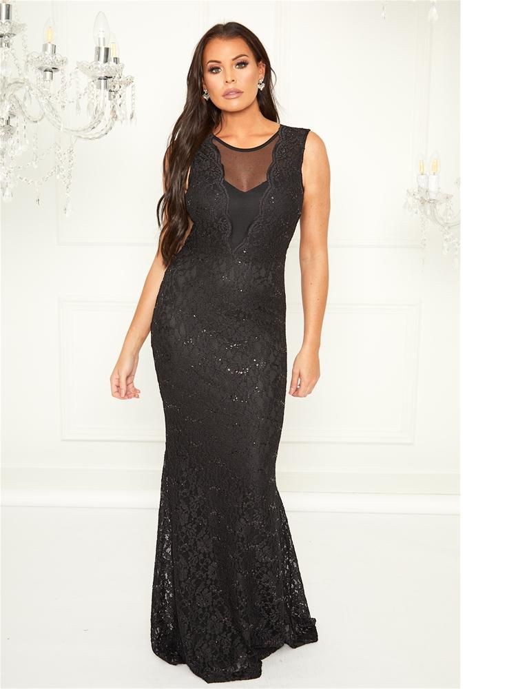 Verena maxi sequin lace dress