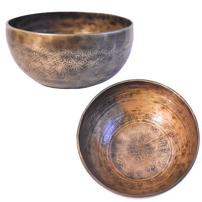 Tibetan Singing Bowl~ Etched
