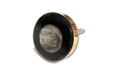 Brass and Black epoxy Design Knob