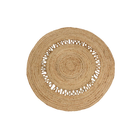 Roundie- Natural Jute Cut out