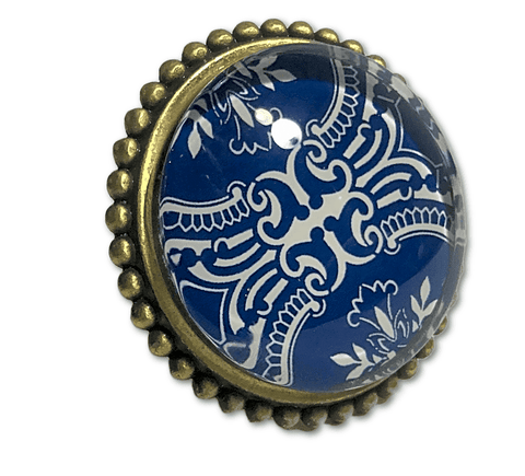 Blue and Brass Knob