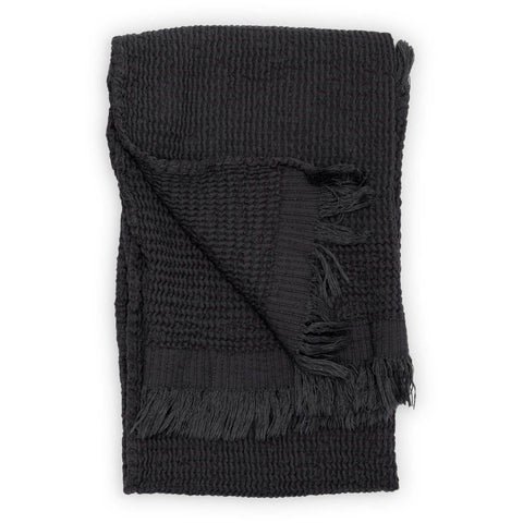 Wave Hand towel~ Charcoal