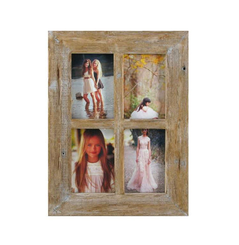 "Natural Rustic~ 4 x 6"" Collage Frame"