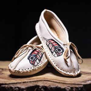 Ballet Moccasins Collab with Eric Parnell Jr~ Cream
