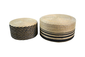 Natural Grass Ottomans~ two sizes
