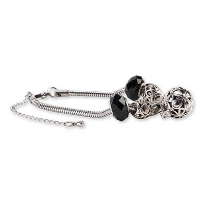 Firenze Locket Bracelet Diffuser~ Black