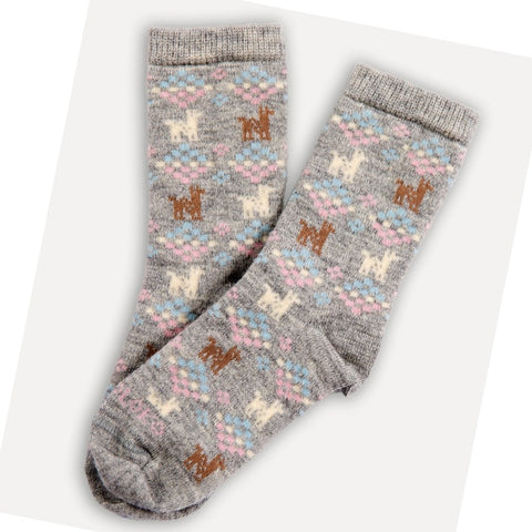 Kids Alpaca Print Sock~ Various Colours