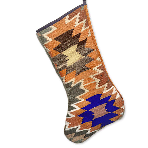 Recycled Turkish Kilim Christmas Stocking~ 5