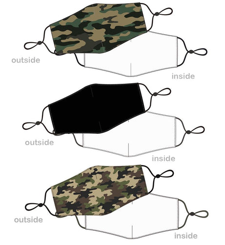 Camo Reusable Masks~ 3 Styles