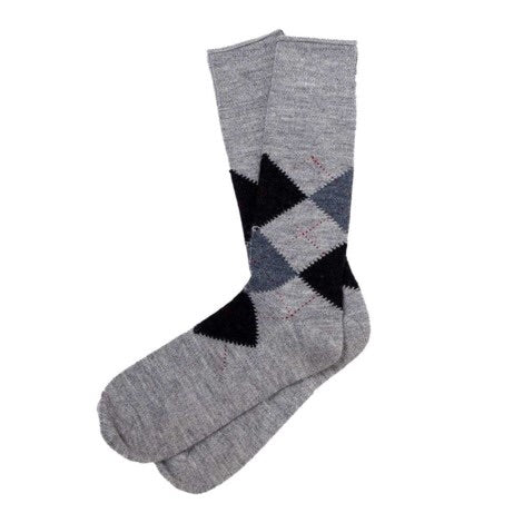 Alpaca Argyle Sock~ Various Colours