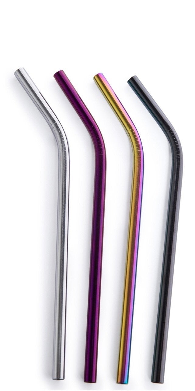 Stainless Bent Smoothie Straws~ Various Colours