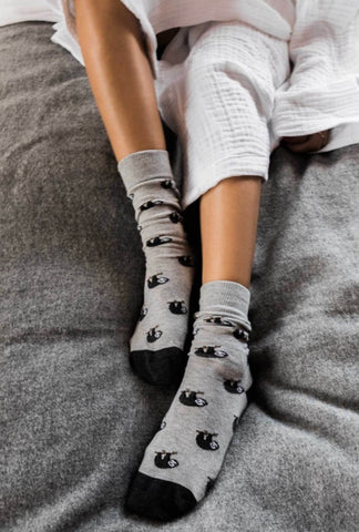 Pima Cotton Sock~ Sloth