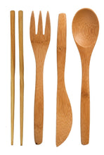 Adult Bamboo Cutlery Set- Various Colours