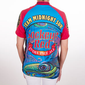 Sockeye Red Short Sleeve Bike Jersey