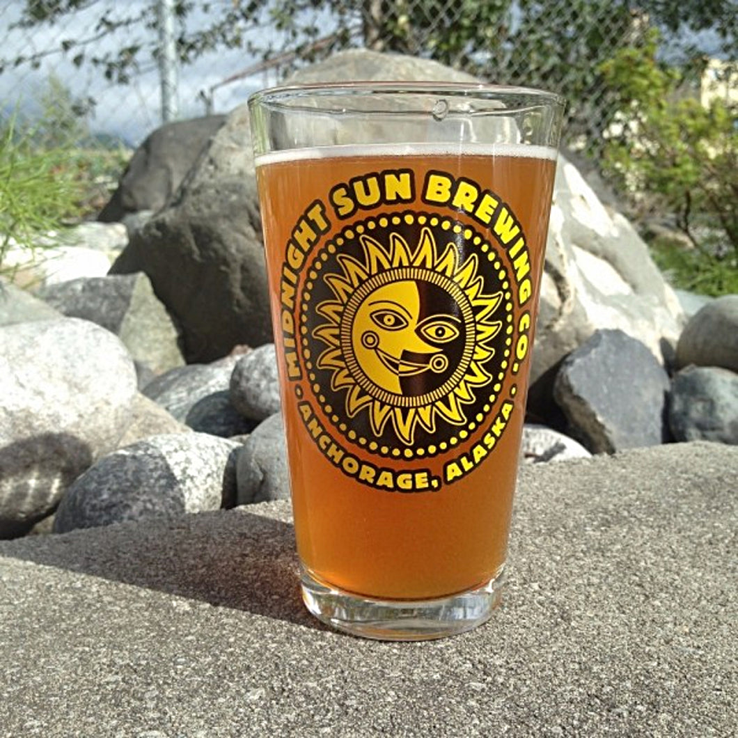 Midnight Sun Logo Pint Glass