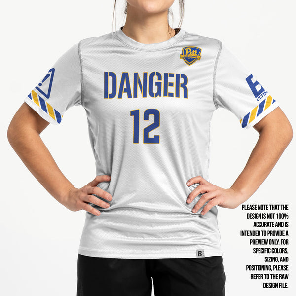 Full Sub N-Knit Short Sleeve White | University of Pittsburgh Danger 2021