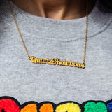 Quartz & Rainbows 3 Year Anniversary Necklace
