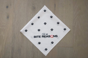 For the Bite Reasons Bandana (White)