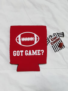 Mens Cozie Football Season Can Cooler NWT Athletic Accessory