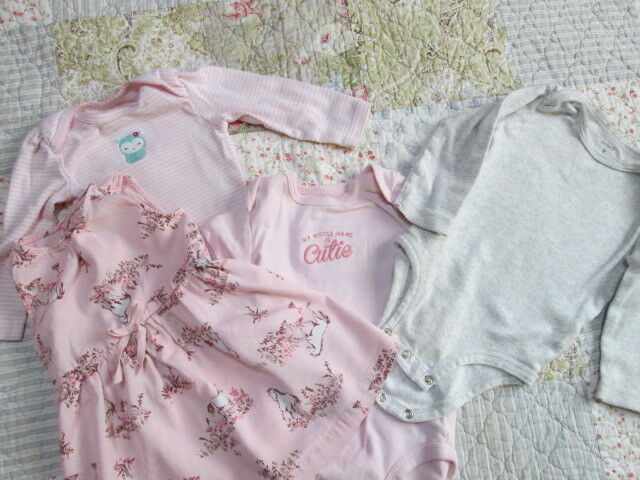 Infant Baby Girl Lot Size 9 Months Carters One Pieces & Dress