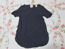 Womens H&M Blouse Short Sleeve Size 4 Small Navy Blue Perfect for Everyday