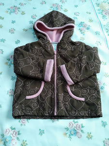 Childrens Girls Hooded Long Sleeve Jacket 18 M