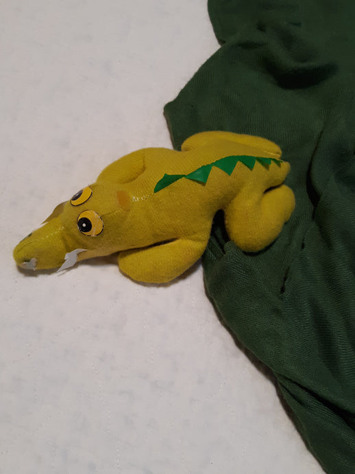 Vintage Childrens Stuffed Alligator Crocodile Toy