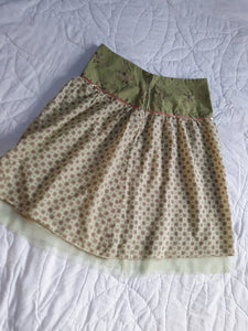 Womens Skirt Size 3/4 Joe Benbasset Lighweight Spring Green
