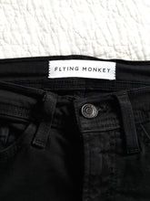 Womens Flying Monkey Distressed Jeans Size 25 Embroidered