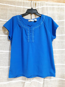 Womens Short Sleeve Stretchy Blouse Size Large West Palm