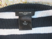 Womens Ann Taylor Long Sleeved Sweater Size M Blouse  Blue & White Striped