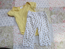 Infant Baby Girl/ Boy 2 Pc Outfit One Piece w. Pants 3-6 Mo. 100% Cotton
