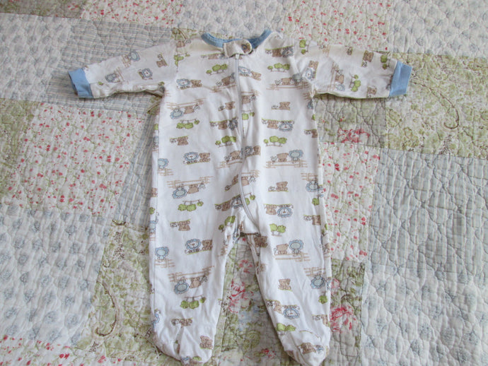 Infant Baby Boy One Piece Sleeper Footsie Gerber 0-3 mo. Add-on