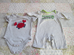 2 Pc Infant Baby Boy Lot 0-3 Mo. Onesie & Jumper (Add-on)