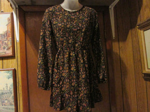 "Womens Short Long Sleeve Dress Size M ""One Clothing"" Multi-colored Paisley Print"