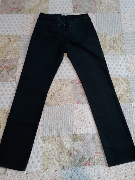 Mens Juniors Boys Dark Navy Blue Jeans 29 X 30 Bull Head