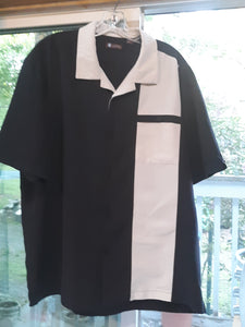 Mens Short Sleeve Button Up Collared Shirt Size XL