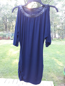 Womens International Concepts Cold Shoulder Blouse Size Small