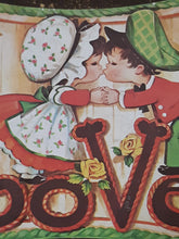 Childrens Vintage Wooden Wall Plaque Art Colorful Kids