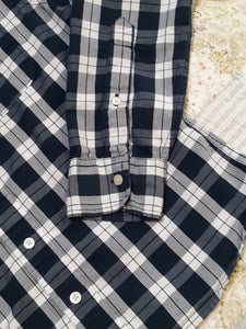 Juniors Boys Hollister Long Sleeve Button Up Collared Shirt Size S