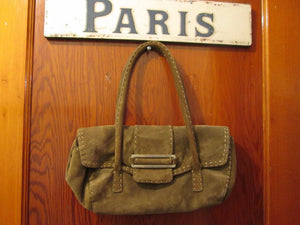 "Womens Suede Handbag Purse ""Ann Taylor"" (Genuine Leather) Beautiful Quality Accessory"