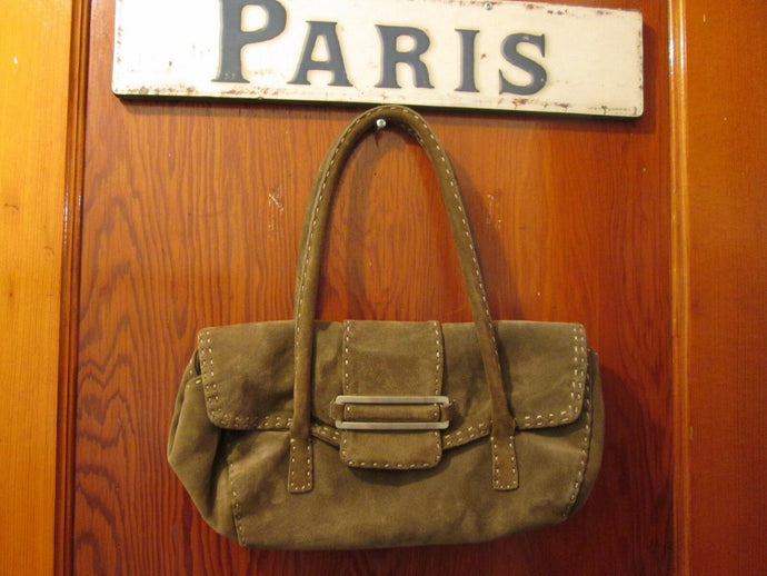 Womens Suede Handbag Purse