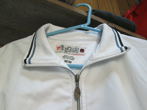 Mens Athletic Jacket White Zip Up Size M Medium Brand: MICROS