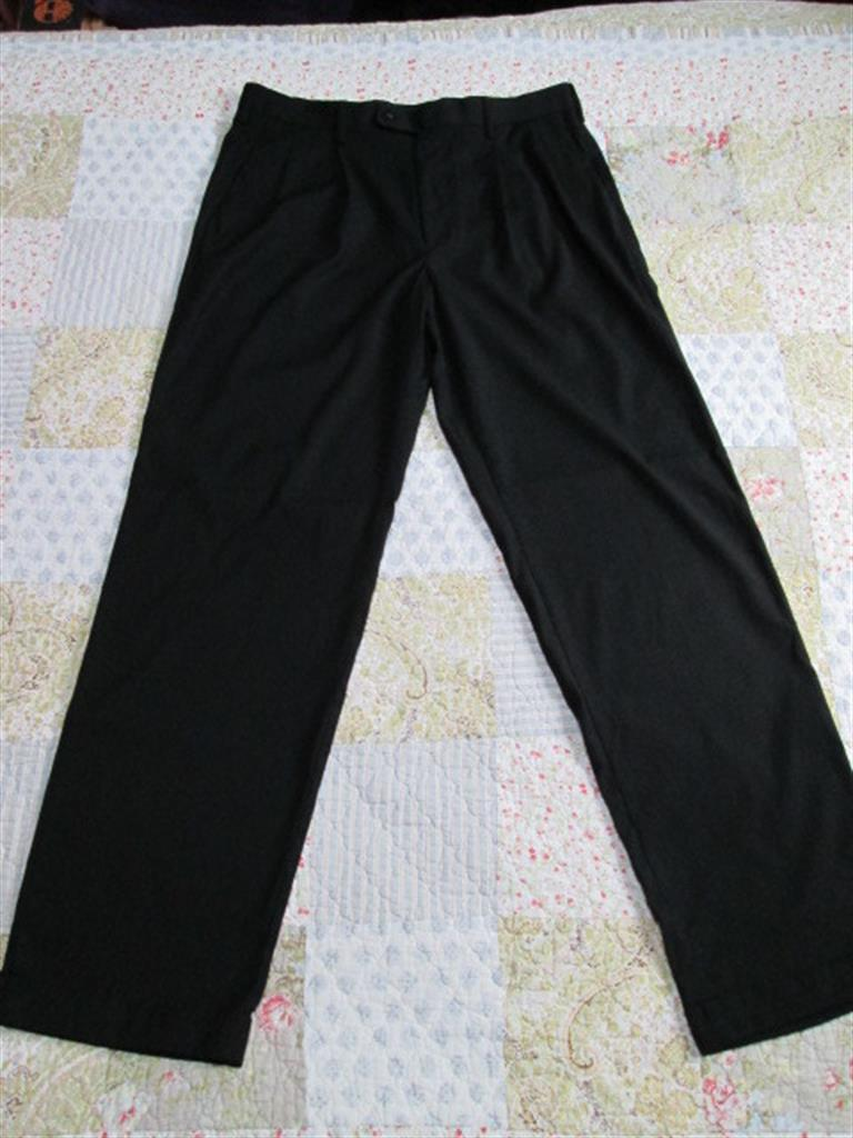 Mens Dress Pants w. Hemmed Cuff 36 X 34 (Black) Brand: A[X]IST