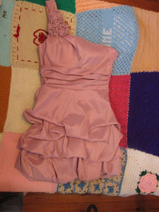 Women's Pink Shiny Party Dress - Size X-Small