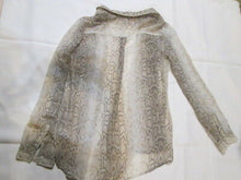 Womens Blouse/ Sheer/ OLD NAVY/ Snake skin pattern/ Long Sheer Sleeves